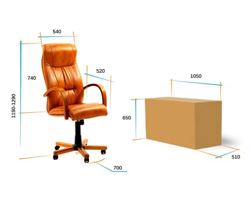 Руководительское кресло Афродита дерево размеры