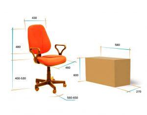 Кресло для персонала Алекс эрго 2 самба размеры