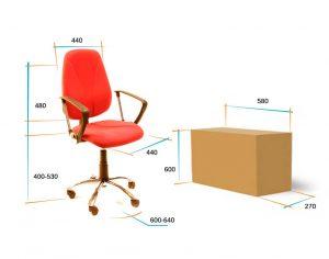 Кресло для персонала Алекс эрго 2 премиум размеры