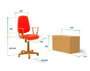 Кресло для персонала Алекс соната размеры